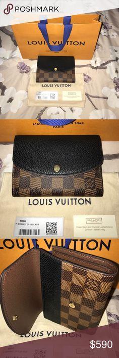 ca78b484d3b3 Spotted while shopping on Poshmark  LOUIS VUITTON WALLET NORMANDY EBENE  NOIR!!!!  poshmark  fashion  shopping  style  Louis Vuitton  Handbags