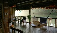 Patio Decorated with Traditional Hammock