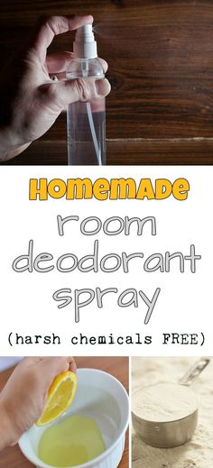 Learn how to make a homemade room deodorant spray (harsh chemicals free).