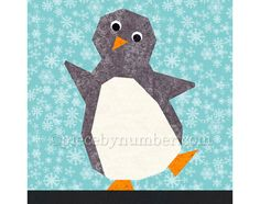 Penny Penguin paper pieced quilt block by PieceByNumber - Craftsy Bird Quilt, Cat Quilt, Quilt Kits, Quilt Blocks, Quilting Projects, Quilting Designs, Paper Pieced Quilt Patterns, Animal Quilts, Foundation Paper Piecing