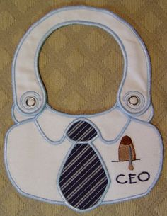 CEO in the hoop bib - embroidery design from SmartNeedle