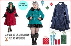 Winter Coats by Hell Bunny in Plus Sizes 2x, 3x, 4x