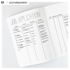 #Repost @journalspiration with @repostapp ・・・ So may of you liked my application and really needed an inspiration for one, that makes me so happy  here's a close up look so that you can see the columns of the left side.  I will post a detailed look of the right side tomorrow. ☺️ _________ #bulletjournal #bujojunkies #bulletjournalcommunity #planner #plannercommunity #plannergirl #filofax #filofaxing #stationary #wearebujo #germanbujojunkies #plannerstamps #studiol2e #nuuna #notebook #pla...