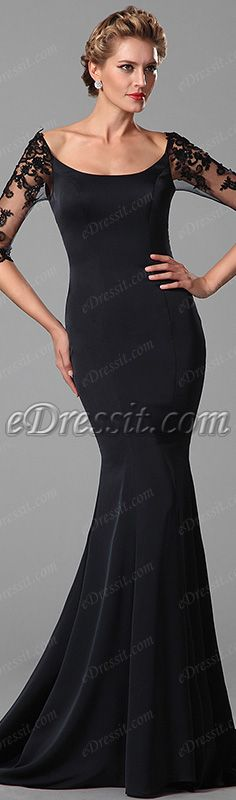 Elegant half sleeves mother of the bride gown! #edressit #gown #fashion #women #evening_dress