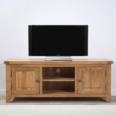 York 150cm Solid Oak TV Unit -  - TV Unit - Mark Harris - Space & Shape