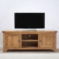 York 150cm Solid Oak TV Unit -  - TV Unit - Mark Harris - Space & Shape