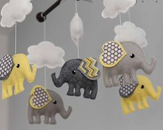 Elefant Mobile Hot Air Balloon Mobile Custom von TayloredWhimsy