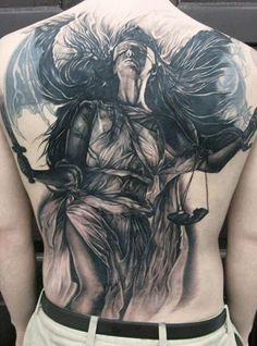 Blind justice, Elvin Yong #InkedMagazine tattoos