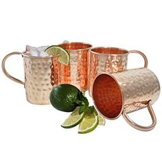 Set of 4 – Prisha India Craft ® Copper Mug for Moscow Mules 500 ML / 16.90 oz – 100% pure copper – Lacquered Finish – Hammered Style Mule Cup, Moscow Mule Cocktail Cup, Copper Mugs, Cocktail Mugs Review