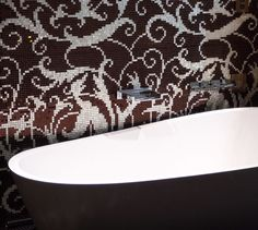 Dark Modern Bathtub In The Bathroom Free Stock Photo - Libreshot