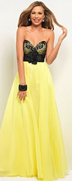 yellow prom dress I would love this even more in blue