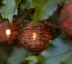 (No longer available) Rattan Globe String Lights | Pottery Barn