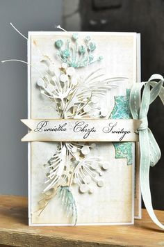 Beautiful card - Memory Box dies --- *Mostly White-on-White White on White --- *Mostly Cream-on-Cream Cream on Cream Memory Box Cards, Memory Box Dies, Shabby Chic Cards, Beautiful Handmade Cards, Card Making Inspiration, Pretty Cards, Card Tags, Paper Cards, Flower Cards