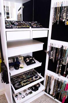 In Closet Jewelry Organizer   Closets   We Heart It
