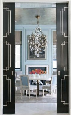 pocket doors and wall color
