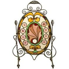 Arts and Crafts Stained Glass Firescreen
