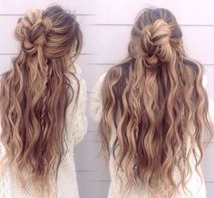 The 100 Best Hairstyles for 2017 Keep right up to date with approaching brand-new hair trends here and now as we cover the major trends and the inspiring hairstyles for 2017 Messy Bun Hairstyles, Pretty Hairstyles, Hairstyle Ideas, Layered Hairstyles, Wedding Hairstyles, Hairstyles 2018, Updo Hairstyle, Wedding Updo, Long Thick Hairstyles