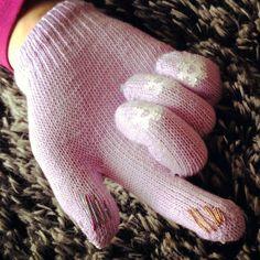 DIY touch screen gloves on Grosgain