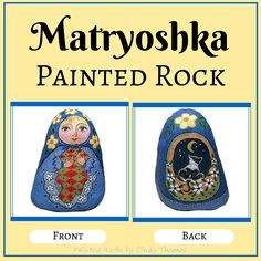 Matryoshka painted rock by Cindy Thomas