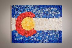 Colorado Flag Made of Buttons by BCMann303 on Etsy
