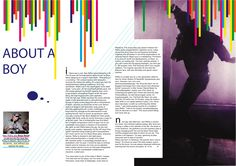 Graphic Design BTEC ND Year 1 This was a project to take an article from a magazine and redesign the layout of the story. This is an article about a upcoming DJ that I chose. Magazine Page Layouts, Mise En Page Magazine, Magazine Layout Design, Graphic Design Brochure, Graphic Design Tools, Graphic Design Inspiration, Layout Inspiration, Design Ideas, Print Design