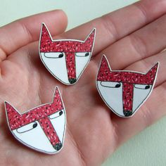 Fox - Small Illustrated Badge £2.00