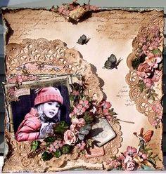 Graphic 45 Once Upon a Springtime layout designed by Tara Orr Vintage Scrapbook, Wedding Scrapbook, Baby Scrapbook, Scrapbook Albums, Scrapbook Cards, Heritage Scrapbooking, Mixed Media Scrapbooking, Scrapbooking Ideas, Digital Scrapbooking