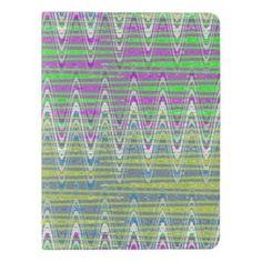 Colorful pattern moleskin notebook cover #zazzle #notebooks #office