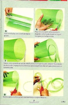 how to cut plastic ribbon from pet bottles