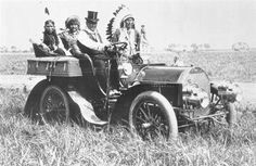 Geronimo driving this car around on the 101 Ranch Marland Oklahoma
