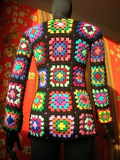 Granny square cardigan - I love this, but could never pull it off.