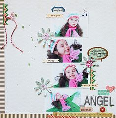 Great multi-photo layout and cute use of twine