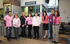 The VPD 2120 Cambie Street Public Service Counter staff showing their support of Pink Shirt Day. Service Counter, Community Events, Public Service, Street, Coat, Pink, Shirts, Fashion, Moda