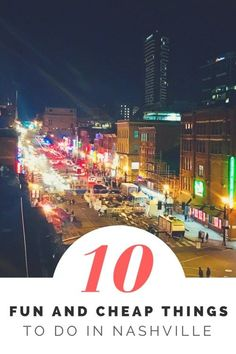 10 Fun and Cheap Things to Do in Nashville is part of - Nashville is such a fun city! From the music to the food to the poeple, Nashville is such a fun city! Here are some really fun and cheap things to do in Nashville while on your visit! Nashville Things To Do, Weekend In Nashville, Nashville Vacation, Visit Nashville, Tennessee Vacation, Vacation Trips, Nashville Tennessee, Nashville Bars, Tennessee Waltz