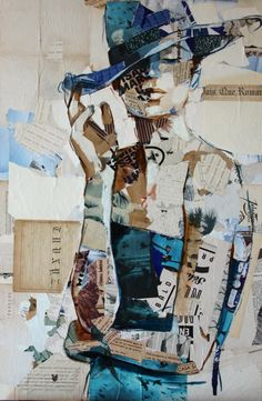 Awesome collage artist, Carme Magem , uses recycled materials, newspaper and oil paint to create captivating pieces! Her latest work is bas. Magazine Collage, Magazine Art, Arte Pop, Paper Collage Art, Collage Drawing, Collage Portrait, Portraits, Newspaper Art, Claude Monet