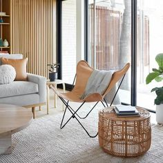 Small Rattan Side Table design Ideas You Will Love Herman Miller, Reading Nook Chair, Rattan Side Table, Rattan Chairs, Pink Chairs, Chair Cushions, Eames Rocking Chair, Swivel Chair, Leather Butterfly Chair