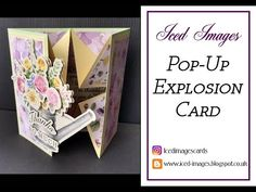 Greeting Card Template, Greeting Cards Handmade, Card Templates, Box Cards Tutorial, Card Tutorials, Video Tutorials, Fancy Fold Cards, Folded Cards, Stampin Up