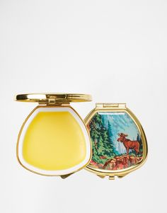 Andrea Garland Lip Balm In Vintage Inspired Pill Box -Moose Red Tint