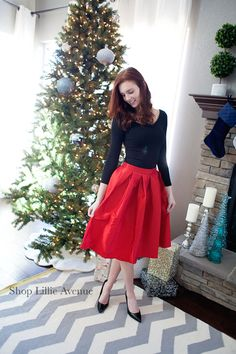 Christmas merry and bright skirts