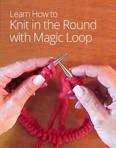 Learn how to knit in the round, which will help you to knit hats, socks, and anything that requires a joined round. Wynn Knit shows you how! Magic Loop Knitting, Knitting Help, Arm Knitting, Knitting Stitches, Knitting Socks, Knitting Patterns, Crochet Patterns, Knit Hats, Knitting Tutorials