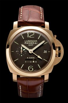Luminor 1950 8 Days GMT Oro Rosa PAM00289 - Collection 8 Days GMT - Watches Officine Panerai