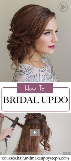wedding updo tutorial