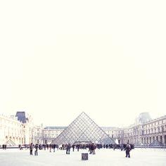 louvre museum. those i.m. pei pyramids. photo by yosigo.