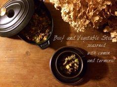 クミンが香る牛肉とひよこ豆、根菜の煮込み ☆ ストウブSTAUB | plat du jour*