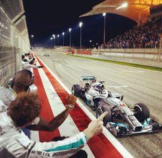 Lewis Hamilton wins the Bahrain GP, 2014