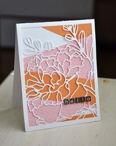 Hello Card by Maile Belles for Papertrey Ink (November 2014)