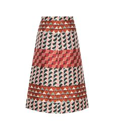 RED Valentino - Printed skirt - Contrasting, geometric prints give this piece captivating fervour – it's a motif that hints at snakeskin inspiration. - @www.mytheresa.com