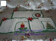 Resultado de imagen para individuales tejidos a crochet para navidad