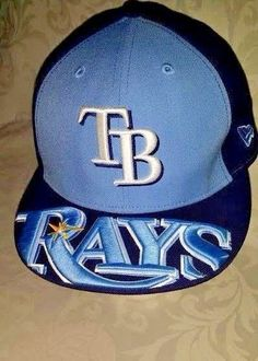 Tampa Bay Devil Rays Hat New Era 59Fifty (Size 7 1/2) Official MLB COOL DESIGN #NewEra #TampaBayDevilRays