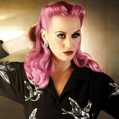 Rockabilly, vintage, hair, color